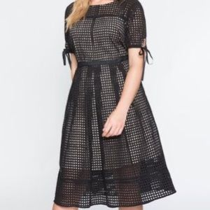 Studio Midi Eyelet Dress by Eloquii Sz 18
